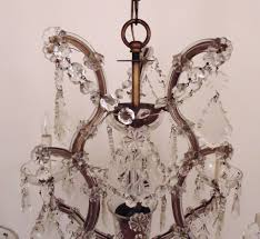 Maria Theresa 6 Light Crystal Chandelier Italian Chandelier Crystal Glass Maria Theresa 6 Light W Prisms