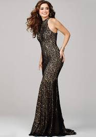 Black And Gold Lace Prom Dress Prom Dresses Black Gown Dresscab