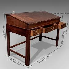 bureau writing desk antique georgian master s writing desk bureau