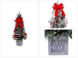battery operated 4 ft pre lit snowy pine porch artificial tree with