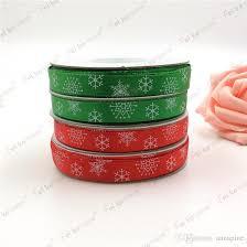 wide christmas ribbon new green christmas ribbon printed snowflake grosgrain ribbon