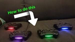 how to change the color of ps4 controller light how to change color on ps4 controller lightbar tutorial clipzui com