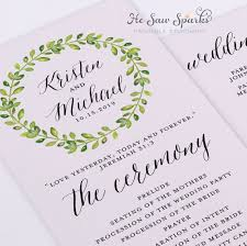 printable wedding programs best 25 printable wedding programs ideas on wedding