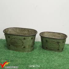 galvanized metal oval flower pot trough planter box buy trough