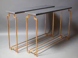 Metal Console Table Art Deco Style Gilt Metal U201capollo U201d Console Tables Hastening