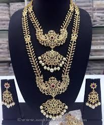 wedding jewelry necklace sets images Imitation wedding jewellery set from swarnakshi south india jewels jpg