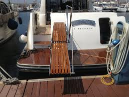 Stainless Steel Boat Handrails Yacht Gangways Telescopic With Handrails Stainless Steel