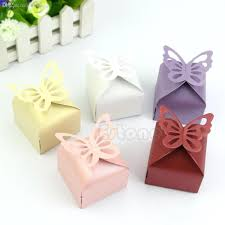 wholesale butterfly style favor gift candy cake boxes for wedding
