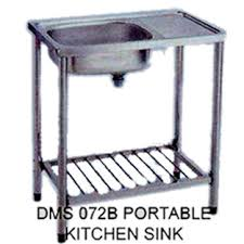 B Stainless Steel Portable Sink With Stand - Kitchen sink portable