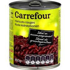 cuisiner des haricots rouges secs haricots rouges carrefour la boite de 500g égoutté shoptimise