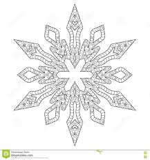 hand drawn antistress snowflake stock vector image 63997093