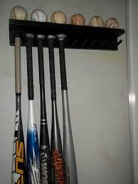 amazon com wood baseball bat rack ball holder 6 11 bats 6 balls