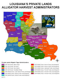 Louisiana Map Of Parishes by Alligator Hunting Louisiana Department Of Wildlife And Fisheries