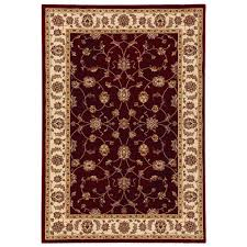 home decorators collection claire red beige 2 ft x 3 ft 5 in