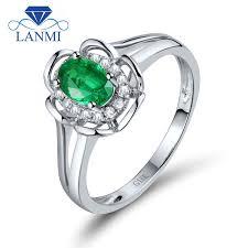 engagement rings flower design aliexpress buy engagement ring flower design oval 4x6mm