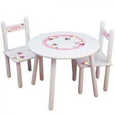 Ladybug Rocking Chair Kids Round Table And Chair Set Ladybugs And Daisies Design