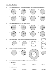 parts circumference and area of a circle by andytodd teaching