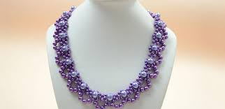 pearl lace how to bead a purple pearl lace necklace for brides pandahall