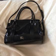 55 Off Burberry Handbags Burberry Patent Leather Handbag From