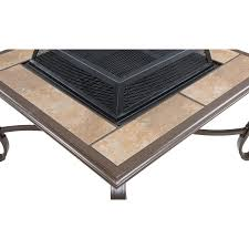 Rectangle Fire Pit Table Ventura 4 Piece Fire Pit Set In Vintage Meadow Ventura4pcfp Mdw