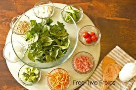 round table salad bar round table lunch buffet menu images table decoration ideas