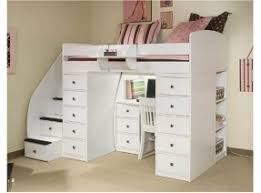 White Twin Loft Bed With Desk Foter - South shore bunk bed