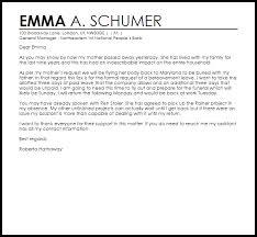 bereavement leave letter leave letters livecareer