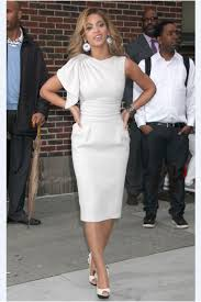 beyonce knowles late show with david letterman white asymmetrical