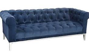 navy blue velvet sofa italian chesterfield navy blue velvet sofa restoration hardware