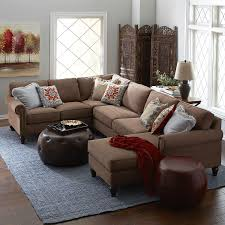 Pier 1 Imports Sofas Build Your Own Alton Mahogany Brown Rolled Arm Sectional