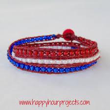 red wrap bracelet images Red white blue wrap bracelet happy hour projects jpg