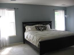 gray bedroom paint ideas with white chair rail and decorative