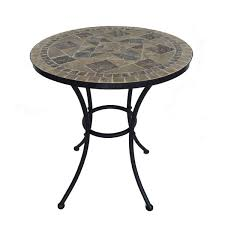 Tile Bistro Table Wrought Iron Mosaic Table Chair Patio Set Wholesale China