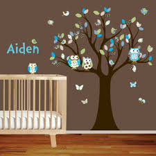 Owl Bedroom Decor Baby Room Wall Decals Spring Impressed Butterfly Nursery Tree