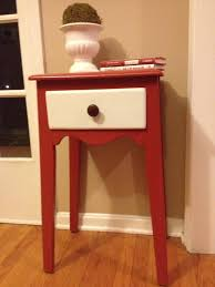 Small Entry Table Cute Red And White Small Entry Table With Drawer For Corner Space Decor Jpg