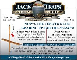 black friday fishing black friday jack traps ice fishing traps and tip ups made in
