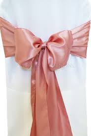 pink chair sashes pink satin chair sashes chair bows ties wedding