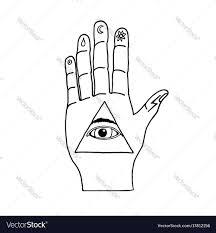 illuminati symbols sunburst ornaments illuminati symbols vector image