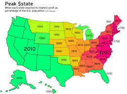 map of us states based on population map monday peak population percentage of us states streets mn