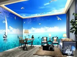 wallpaper for entire wall ceiling wall murals playing sail boat seagull ceiling entire room