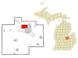 Michigan Township Map by Saginaw Township North Michigan Wikipedia