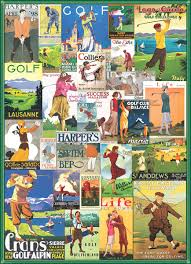 jigsaw quote game golf around the world vintage collage jigsaw puzzle