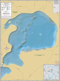 Turtle Flambeau Flowage Map Clear Lake Manitowish Chain Wall Map