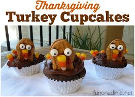 nutter butter thanksgiving turkey cupcakes on a dime