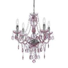 Pink Chandelier Light Pink Chandeliers Hanging Lights The Home Depot