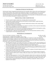 Internal Resume Examples by Corporate Resume Template