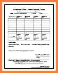 5 speech therapy progress report template progress report