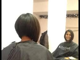 cutting a beveled bob hair style hair makeover long to inverted bob haircut youtube