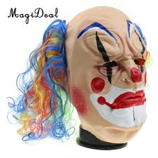 aliexpress com buy magideal scary evil clown mask creepy bald