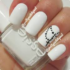 50 best black and white nail designs cross nails white crosses